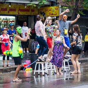 Songkran around Bangkok