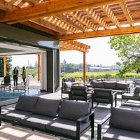 The terrace of the tasting room