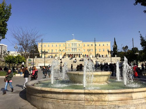 View of the presidential palace from the square