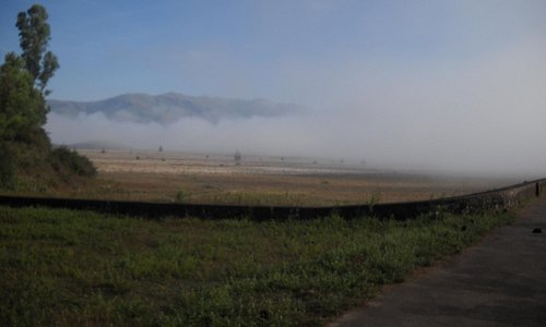 View of nature from Lakya Dam in early morning