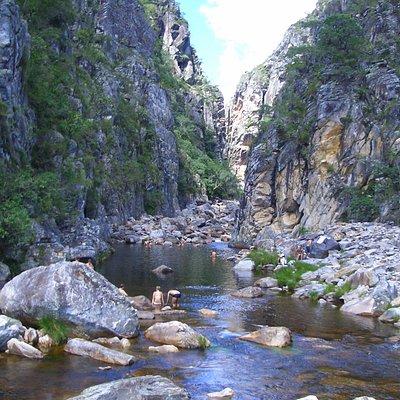 Cânion das Bandeirinhas, fica localizado no Parque Nacional da Serra do Cipó em Minas Gerais.