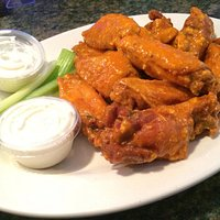 Excellent wings!!! Medium chef style fried hard with blue cheese.