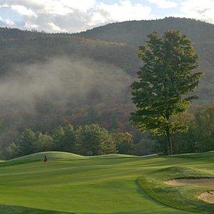 A beautiful morning heading toward the Hole #1 green!
