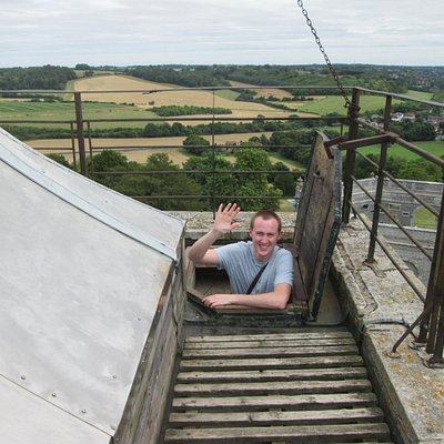 View from the top of the church tower & trapdoor!