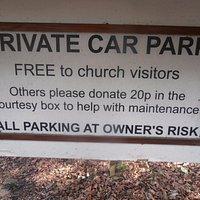 Car park sign