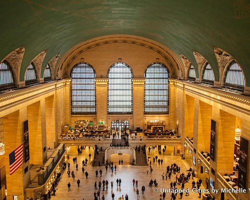 Tour of the Secrets of Grand Central Terminal - View from atop the glass walkways in the windows