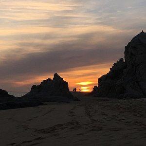 Pedregal Beach at Sunset
