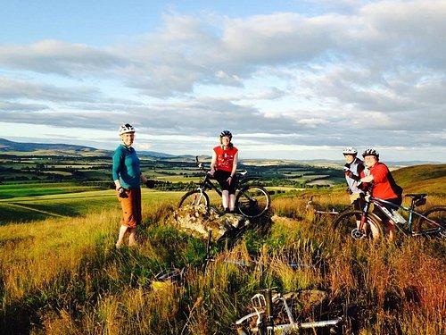 Ladies on bike ride tour scotland