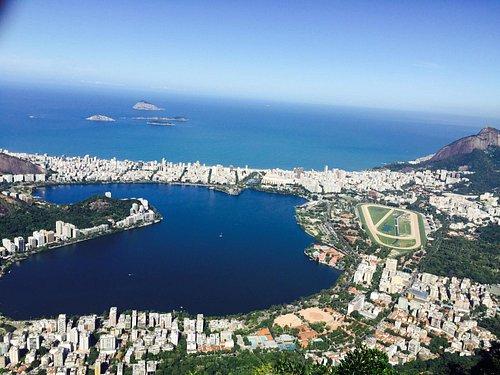 A lagoa que fica bem atras da pria de copacabana.