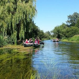Beautiful River Stour in a sunny day