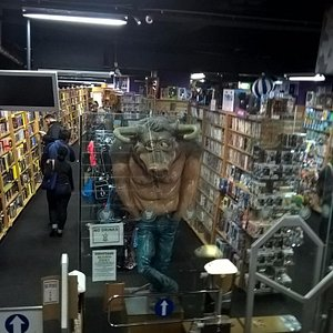 Life size Minotaur to bring in the customers!