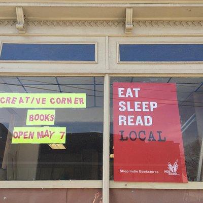 Creative Corner Books opening May 7, 2016