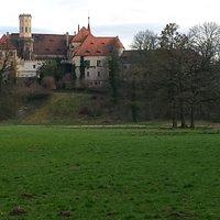 Sicht vom Schloßpark Püchau