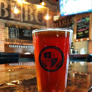Our Rees' Red enjoying our taproom