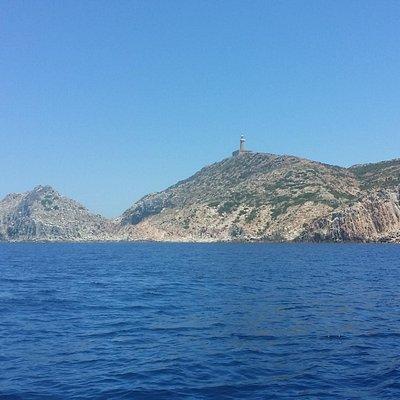 Capo Sandalo dal mare