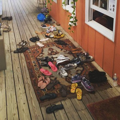 Lots of shoes outside. Lots of Love inside...