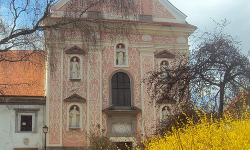 Pink church of the monastery