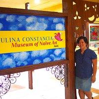 Artist Paulina Constancia at the MoNA