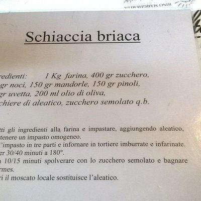 La ricetta della schiaccia briaca
