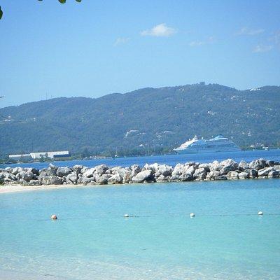 Close to the cruise ship terminal.