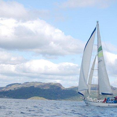 Sailing in Scotland's beautiful west coast