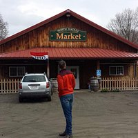 Market entrance, connected to restaurant