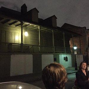 Jonathan explaining the true history behind Madame John's Legacy's residence