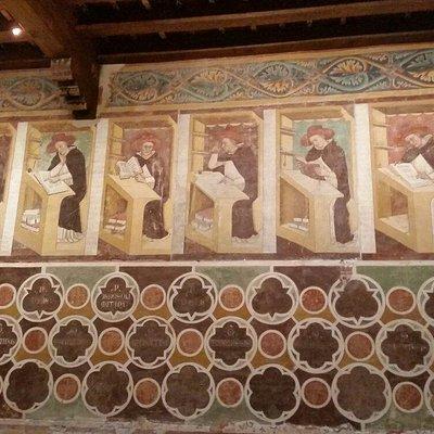 Alcuni particolari degli affreschi