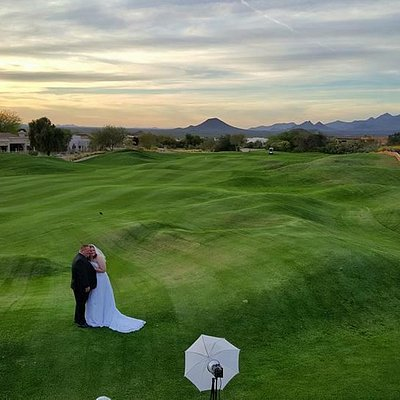 Wedding pics on the golf course