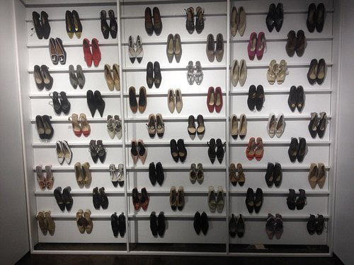 80 or so of a 300 shoe collection, heels in all shapes and sizes