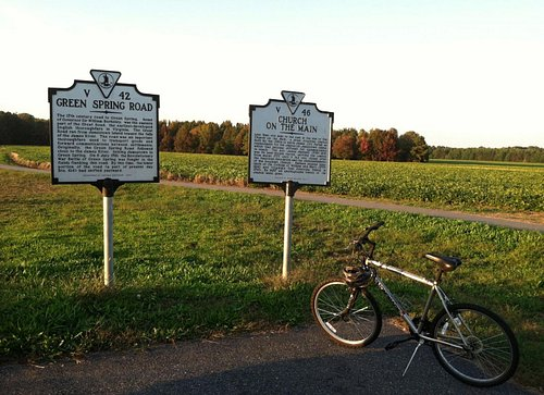 This photo was taken at the Virginia Capital Trail near mile marker 0 in James City County