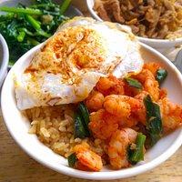 鸭蛋虾仁饭