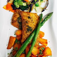 Pan-fried fish with caper sauce