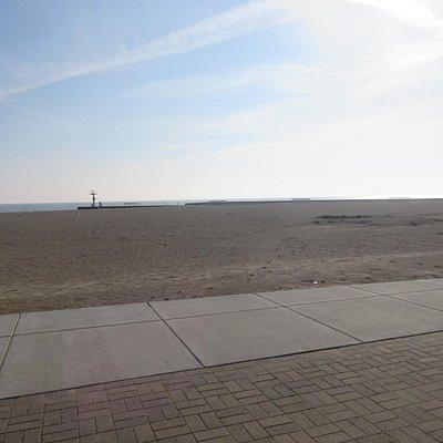 beach in the winter