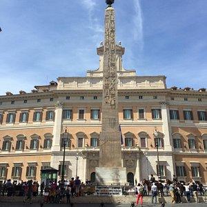 Obelisk of Psammetichus II in piazza Montecitorio.