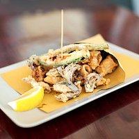 Calamari fritti con le verdure - che bello!