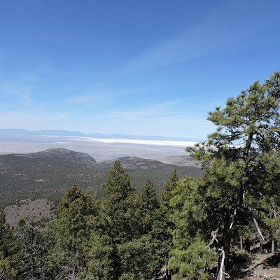 Scenic View - White Sands in Distance
