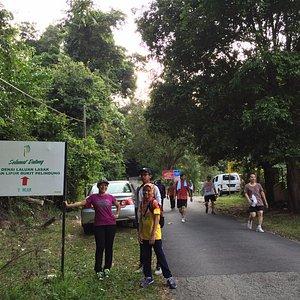 Signboard at the main track up to the Bukit Pelindung