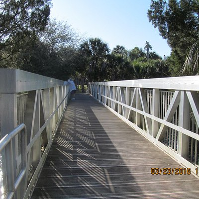 Bridge over river--L.P. Park
