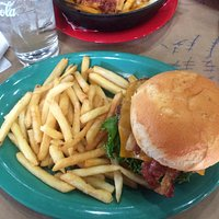 GF Cheeseburger with Bacon and Fries