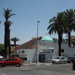 Boulevard Felix Houphouet Boigny and the Koubba of Marabout Sidi Belyout, Casablanca's patron sa