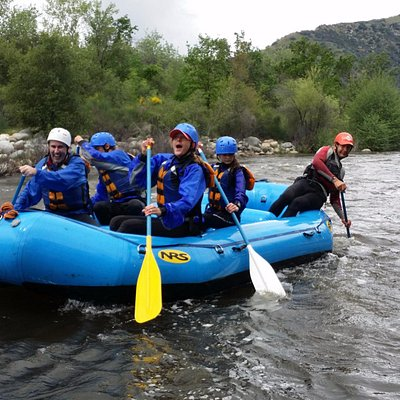 Three Rivers, California whitewater rafting on Kaweah River