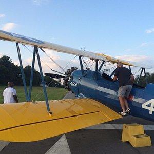 The gorgeous biplane!
