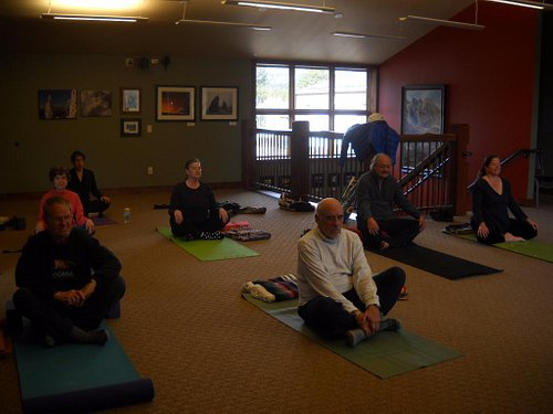 yoga classes upstairs at The Old Gallery--both beginning and intermediate!