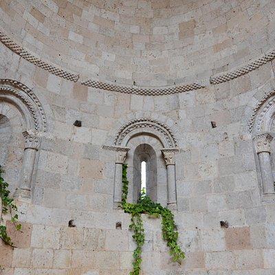Detalle de la bóveda románica