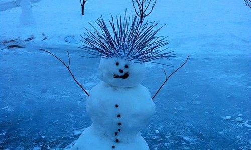 Snowman at Jubilee Park