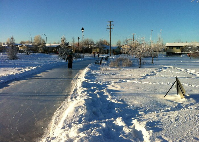 Going for a skate on the path