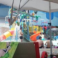 small kids play area at the Pororo water park (slides are separate)