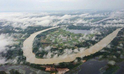 Curve of Moon River at Ubon Ratchathani