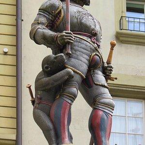 Рыцарь с медведем.